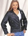 DLJ709-09<br>Ladies Heavy Duty Soft Leather Motorcycle Jacket