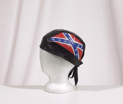 AC007014<br>Skull Cap W/ Rebel Flag