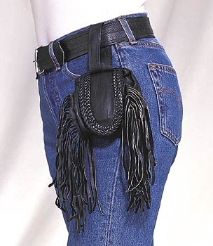 Folding Pouch w/ Fringes & Braid