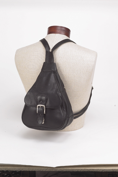 Ladies Small Back Pack Purse With Buckle Pocket