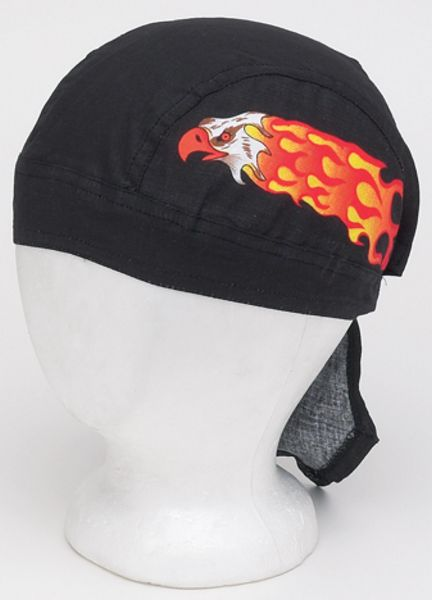 AC226<br>Cotton Skull Cap W/ Eagle In Flames