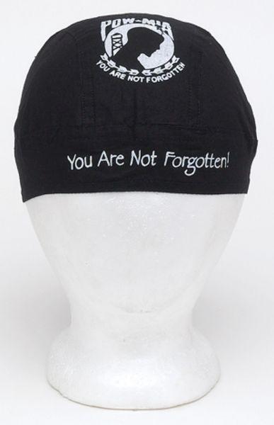 AC228<br>Cotton Skull Cap W/ P.O.W.-M.I.A. You Are Not Forgotten Logo