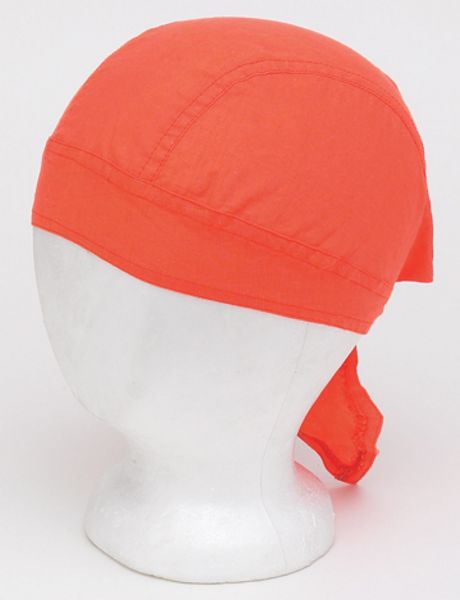 AC236<br>Cotton Plain Orange Skull Cap
