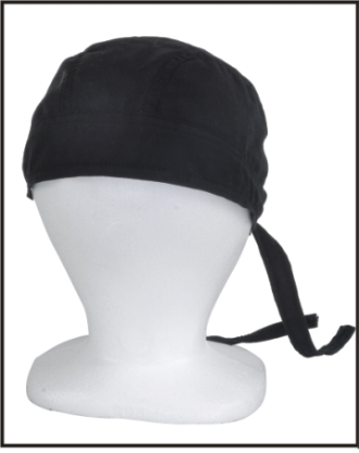 AC257<br>Black Cotton Skull Cap