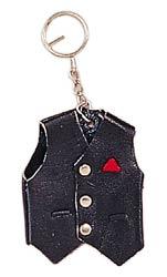 Black Biker Vest Keychain