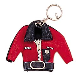 Biker Red Jacket Keychain