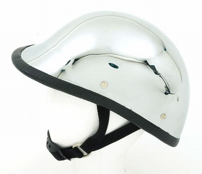 HC104<br>Chrome jockey / hawk novelty helmet, Y-strap, Q-release