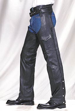 C326<br>Braided Leather Chaps (Heavy Weight)