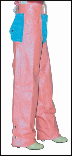 C332-Pink<br>Ladies Pink Leather Chaps