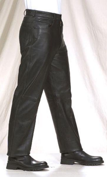 C500<br>Men 5-pocket pants plain cowhide leather