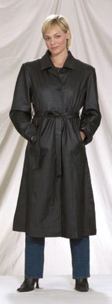 DF2<br>Ladies long coat with zipout lining with belt