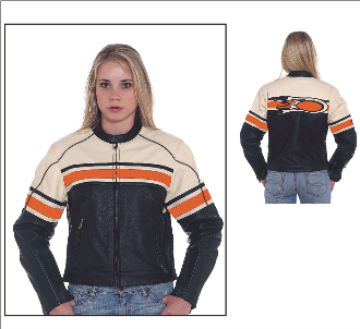 DLJ234<br>Ladies Leather Racer Jacket