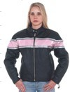 DLJ238<br>Ladies leather racer jacket