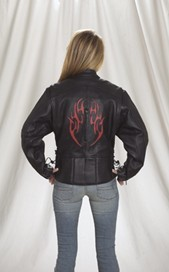 DLJ255-01<br>Ladies Naked Cowhide Motorcycle jacket