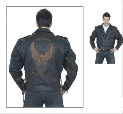 DMJ703-SS<br>Mens retro brown jacket