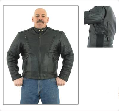DMJ714-01<br>Mens Naked Racer Jacket