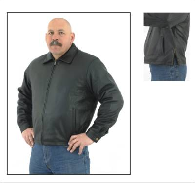 DMJ719-01<br>Mens Classic Fashion Leather Jacket