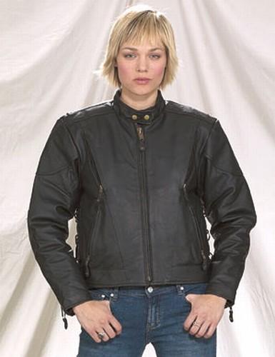 DLJ737-01<br>Ladies Naked Cowhide Racer Vented jacket