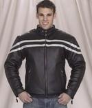 DMJ779-Silver<br>Mens racer jacket