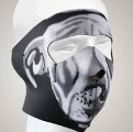 FM13<br>White Bulldog Face mask with velcro strap on back