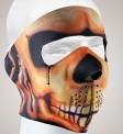 FM14<br>Fire Skull Face mask with velcro strap on back