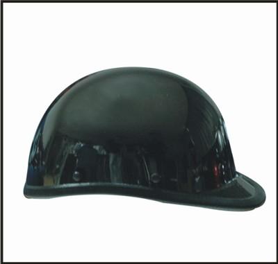 HC104-01<br>Black Chrome Jockey / Hawk shiny novelty helmet Y-Strap, Q-release