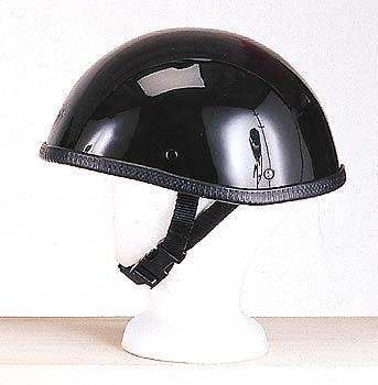 H406<br>Smokey shiny novelty helmet, no Snaps, Y-strap, Q-release