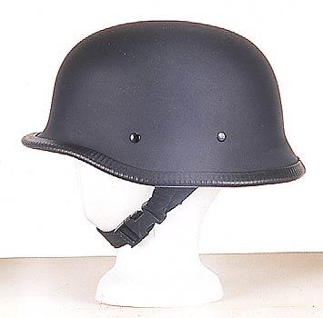H502<br>German novelty flat black helmet, Y-strap, Q-release