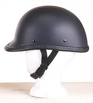 H504<br>Jockey / Hawk novelty flat black helmet, Y-strap, Q-release