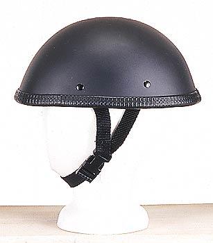 H505<br>EZ Rider novelty flat black helmet, Y-strap, Q-release