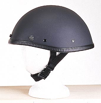 H507<br>Smokey Novelty Flat black helmet, Y-Strap, Quick Release Snaps for Visor Does not include visor