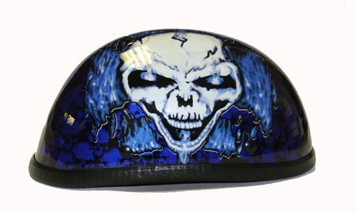 H7401-Blue<br>Eagle Novelty Boneyard Helmet