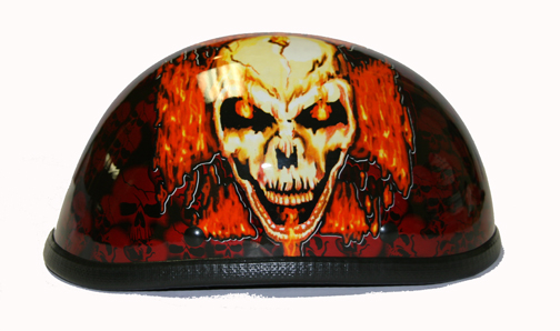 H7401-Orange<br>Eagle Novelty Boneyard Helmet