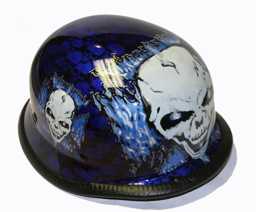 H7402-Blue<br>German Novelty helmet, Y-strap, Q-release