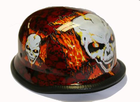 H7402-Orange<br> German Novelty helmet, Y-strap, Q-release