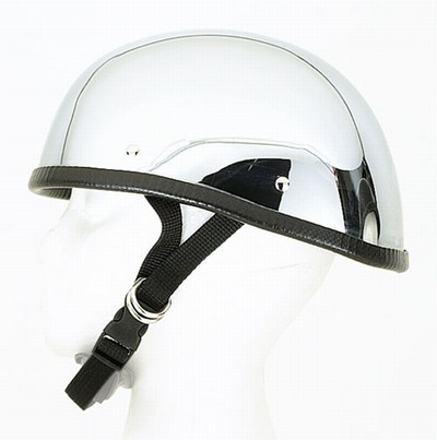 HC101<br>Chrome eagle novelty helmet Y-strap, Q-release