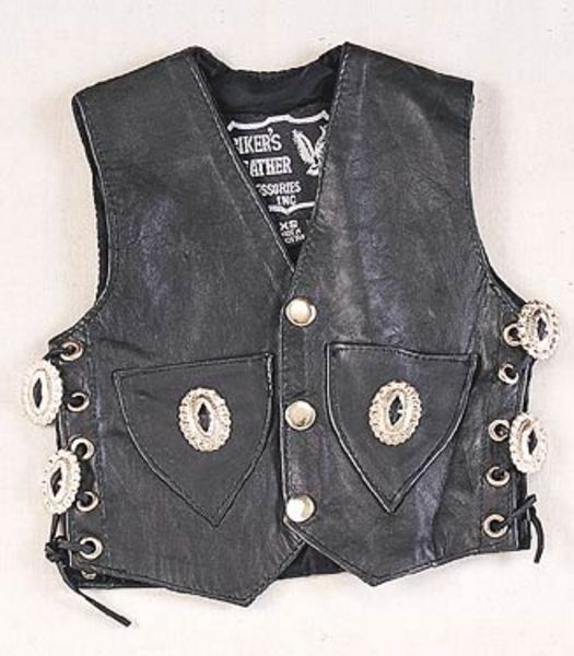 KD348<br>Kids toddler vest side laces, conchos