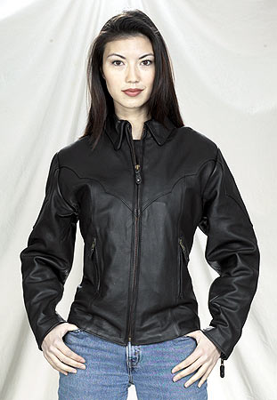 DLJ248<br>Ladies Motorcycle Jacket with zipout lining