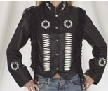 DLJ260<br>Ladies Jacket with beads, bone, braid
