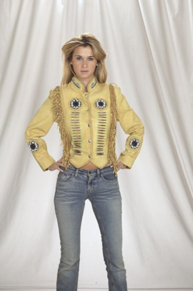 DLJ261<br>Ladies jacket with beads, bone, braid
