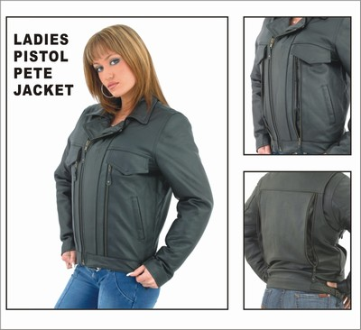 DLJ800<br>Ladies Soft Leather Pistol Pete Jacket