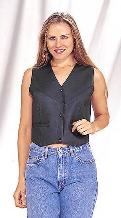 LV411<br>Ladies vest plain with side laces