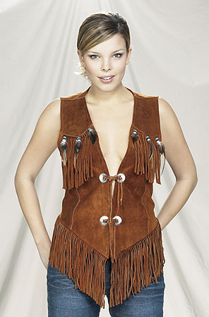 LV450<br>Ladies western vest with fringe and beads