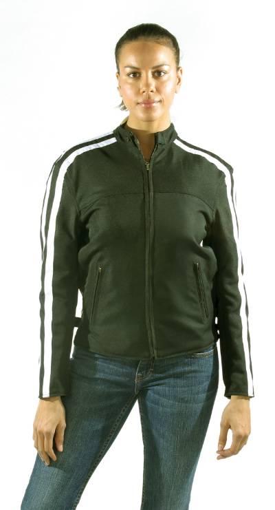 DLJ273-Reversible<br>Ladies soft leather racer jacket