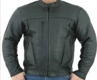 DMJ700-SS<br>Mens Leather Motorcycle Jacket with zipout lining