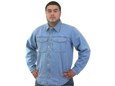 DMJ777-Denim<br>Mens denim shirt with snaps