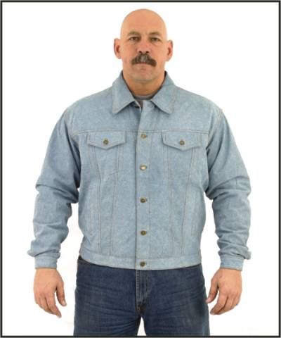 DMJ778-Denim<br>Mens denim shirt with snaps