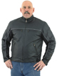 DMJ780-Black<br>Men&#39;s Cowhide Racer Jackets
