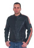 DMJ792-01<br>Men's  Cowhide Racer Jackets