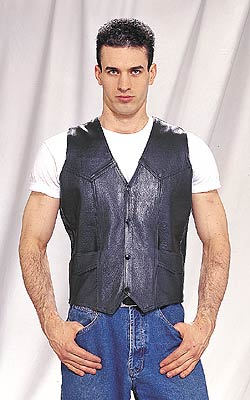 MV302<br>Plain Leather Vest (Heavy Weight)